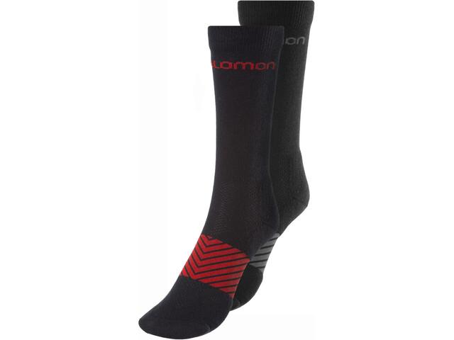 Salomon XA Socks 2 Pack black/black